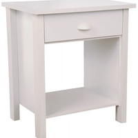 """Nouvelle Nightstand (White) (24.75""""H x 21.25""""W x 16""""D)"""
