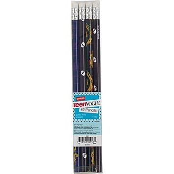 Staples® Teen Vogue Wrapped Pencils, Assorted Skull Designs, 4/Pack
