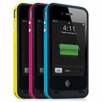 New 2000mAh External Backup Power Battery Charging Case for iPhone 4 4S Apple