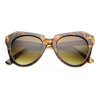Womens Oversize Fashion Sunglasses With Metal Temples 9605