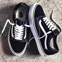 Vans Classics Old Skool Running  Sport Sneaker Couple Shoes Black