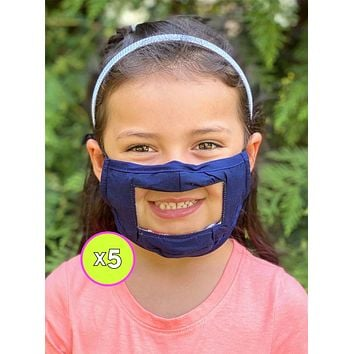 Kids Smile Mask - Reversible - x5