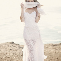 Stunning low back white lace wedding dress with by Graceloveslace