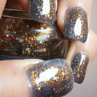 Liams Galaxy Nail Lacquer Blue Luminous by WonderBeautyProducts