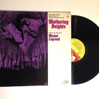 VALENTINES DAY SALE Rare Wuthering Heights Soundtrack Lp Album Michel Legrand 1970 Heathcliff And Catherine Yorkshire Moors Vinyl Record