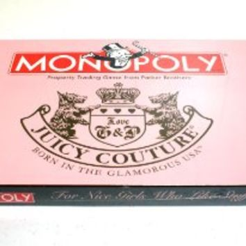 Juicy Couture Monopoly + 6 Collectible Charm Tokens