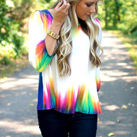 Aurora Borealis Top - Royal