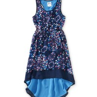 Kids' Sheer Chiffon Fireworks Hi-Low Dress