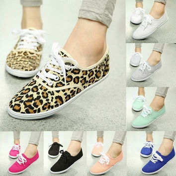 Women Shoes Fashion Sneakers Candy Color Flat Lazy Canvas Casual Shoes Woman Sneakers = 1958575556
