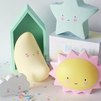 Creative LED Night Light for Kid's Room Decorations Cute Star Lamp Moon Sun Letter Lighting For Baby Lovely Birthday Toy Gift