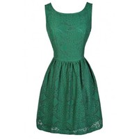 Lily Boutique Hunter Green Eyelet Lace Dress, Eyelet Lace A-Line Dress, Lasercut Lace A-Line Dress, Lasercut Lace Dress, Cute Green A-Line Dress, Green Bridesmaid Dress, Green Lace Bridesmaid Dress, Green A-Line Lace Dress Lily Boutique