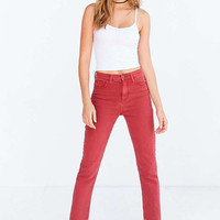 BDG Girlfriend High-Rise Jean - Red - Urban Outfitters