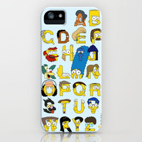 Simpsons Alphabet iPhone Case by Mike Boon