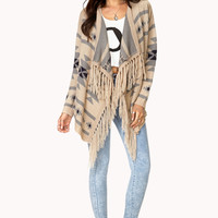Worldly Open-Front Cardigan