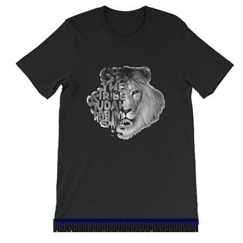 Israelite Lion Of The Tribe Of Judah Men's Short Sleeve T-shirts With Fringes