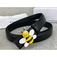Dior new classic yellow bee buckle fashion ladies belt