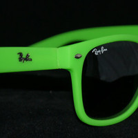 Rayban Wayfarer RB2140 Sunglasses Neon Yellow Green Ray ban New from Sunglasses For All