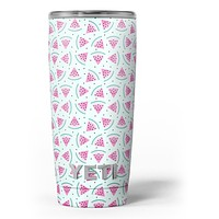 Digital Paper - Watermelon Cocktail-09 - Skin Decal Vinyl Wrap Kit compatible with the Yeti Rambler Cooler Tumbler Cups
