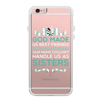 God Made Us Mint BFF Phone Case Cute Clear Phonecase