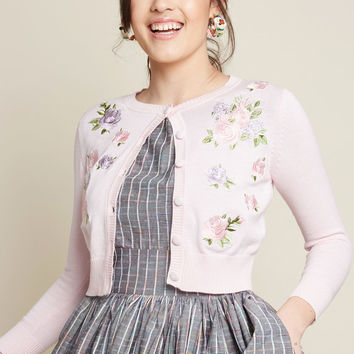 Collectif Floral Aura Cropped Cardigan