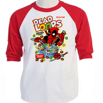 "DEADPOOL,Inspired,""DEAD LOOPS"" Retro T-Shirt,All Sizes ,T-416Red"