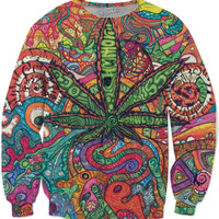 trippy weed sweater