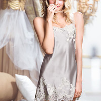 Lace Appliqué Satin Slip - Very Sexy - Victoria's Secret
