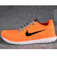 NIKE Women Men Running knit Sport Casual Shoes Sneakers Orange