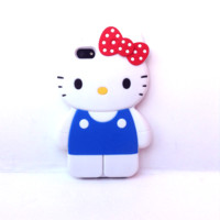 Loungefly – Hello Kitty Classic Full Body 3D iPhone™ 5 Silicone Case In White/Multi|Thirteen Vintage