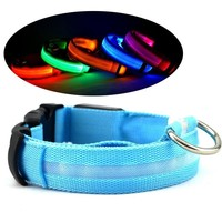 Dog Supplies flashing Glow Led Collar Harness Night Leash Battery Cat