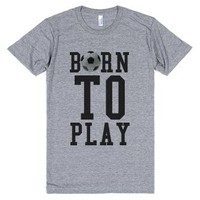 American made vintage fit Born to play Soccer tank top t-shirt