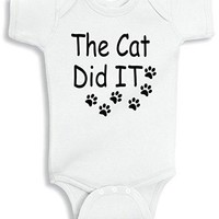 Lil Shirts The Cat Did It Baby Bodysuit