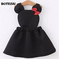 girls clothes Lovely air layer strap girl dress cartoon minnie dress for girls kids dresses for girls cotton autumn baby dress