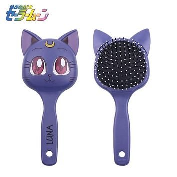 Free Shipping Anime Sailor Moon Luna Cosplay Costumes Props Fashion Big Comb Cute Cat Hairbrush Cosmetic Makeup Mirror