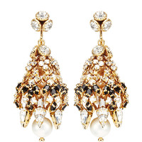 Crystal and Faux-Pearl Earrings