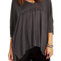 Gray Anonymous High & Low Loose Shirt