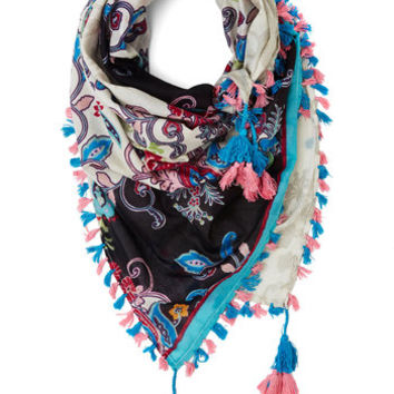 ModCloth Boho Crazy About Color Scarf in Blue