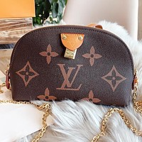 Hipgirls LV Louis Vuitton New fashion monogram leather shaped shoulder bag crossbody bag