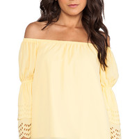 VAVA by Joy Han Celeste Off Shoulder Top in Yellow