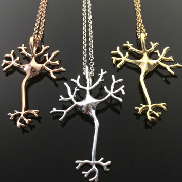Science Jewelry Neuron Necklace Gift for her Gift for Doctor Gift for Nurse Birthday Gift Psychology