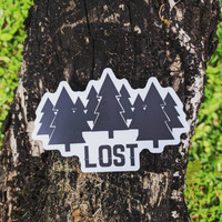 Traveler Kit and Co Lost Sticker Wander Adventure Travel Decal Car Laptop Road trip Explore Wanderlust Wunderlust Outdoors Trees Camping