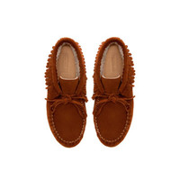 SUEDE BOOT WITH FRINGING - Shoes - Girl (2 - 14 years) - Kids | ZARA United States
