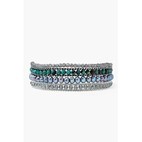 Chan Luu Turquoise Pearl Mix Naked Wrap Bracelet