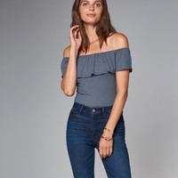 Womens Off-The-Shoulder Bodysuit | Womens New Arrivals | Abercrombie.com