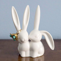 Critters Hare and Now Ring Holder by ModCloth