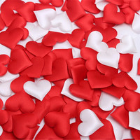 cheap ! 50pcs Fabric Heart dia 3.5cm Wedding Party Confetti Table Decoration birthday party Decorative Supplies