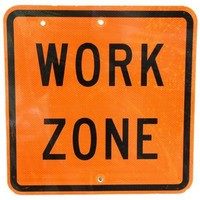 Metal Work Zone Street Sign