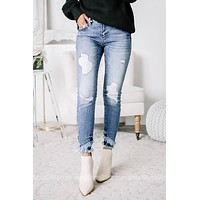 What's Your Mindset Mid Rise Skinny Jeans