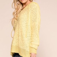 Sleepover Yellow Popcorn Hoodie Top