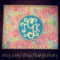 "Lilly Pulitzer ""Let's Cha Cha"" Monogram Painting"